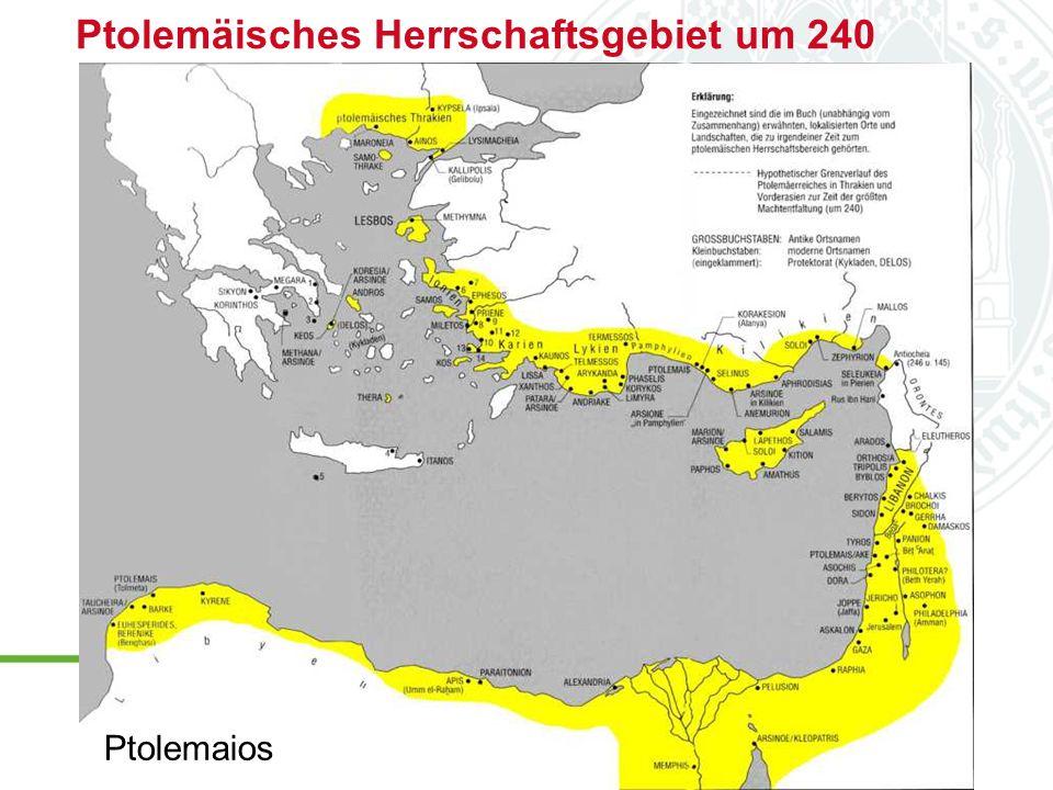 Ptolemäisches Herrschaftsgebiet um 240 Ptolemaios