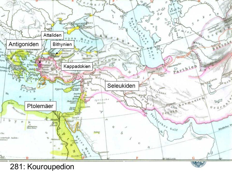 Bithynien Attaliden Kappadokien Seleukiden Ptolemäer Antigoniden 281: Kouroupedion