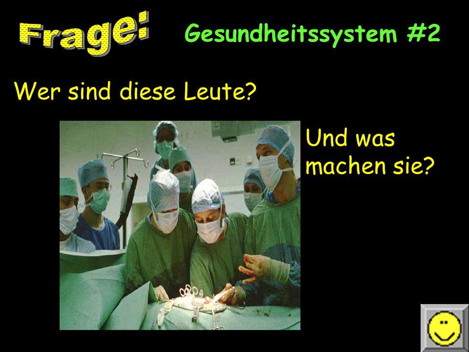 Gesundheitssystem #2 Wer sind diese Leute? Und was machen sie?
