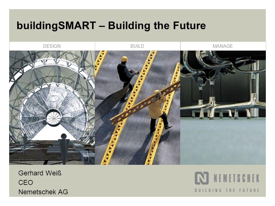 DESIGNBUILDMANAGE buildingSMART – Building the Future Gerhard Weiß CEO Nemetschek AG