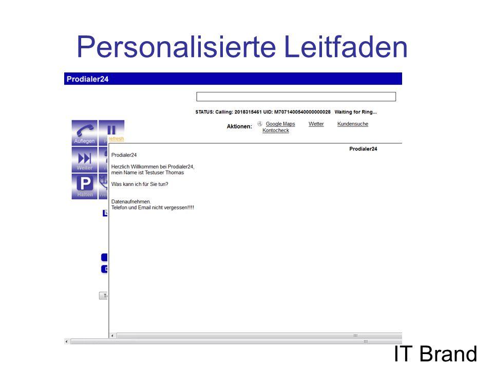 Personalisierte Leitfaden IT Brand