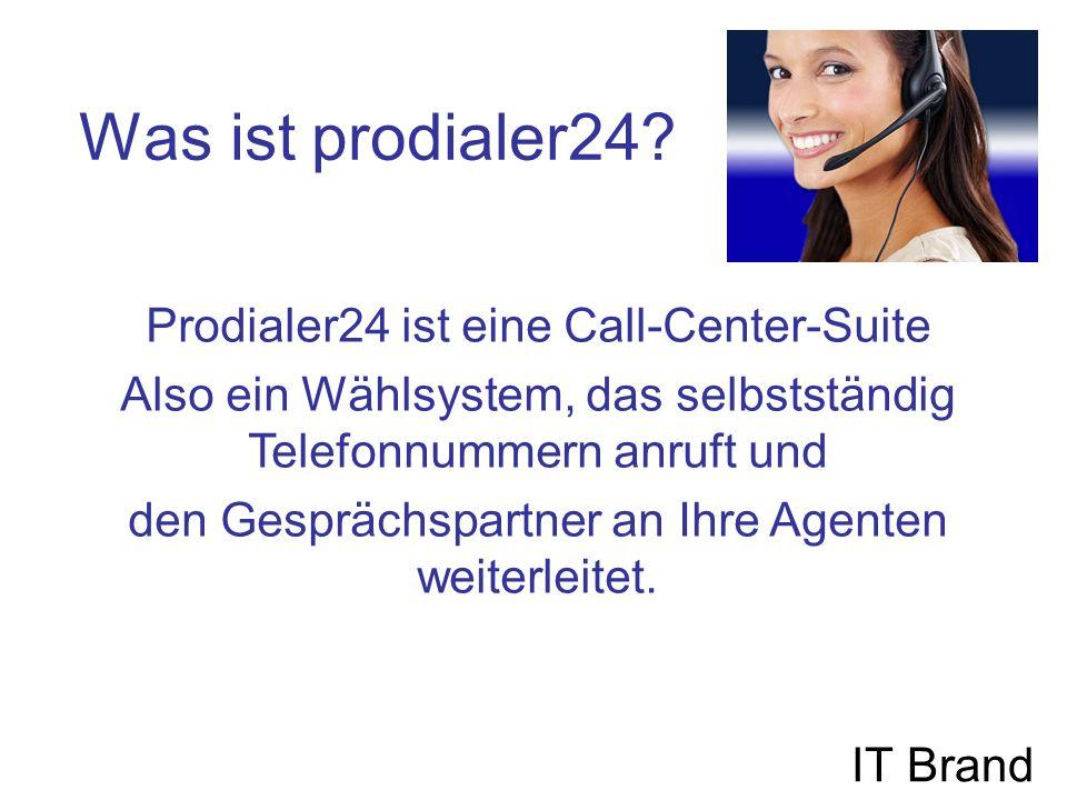 Was leistet prodialer24 Vicidial.IT Brand prodialer24 beherrscht verschiedene Wählvarianten.