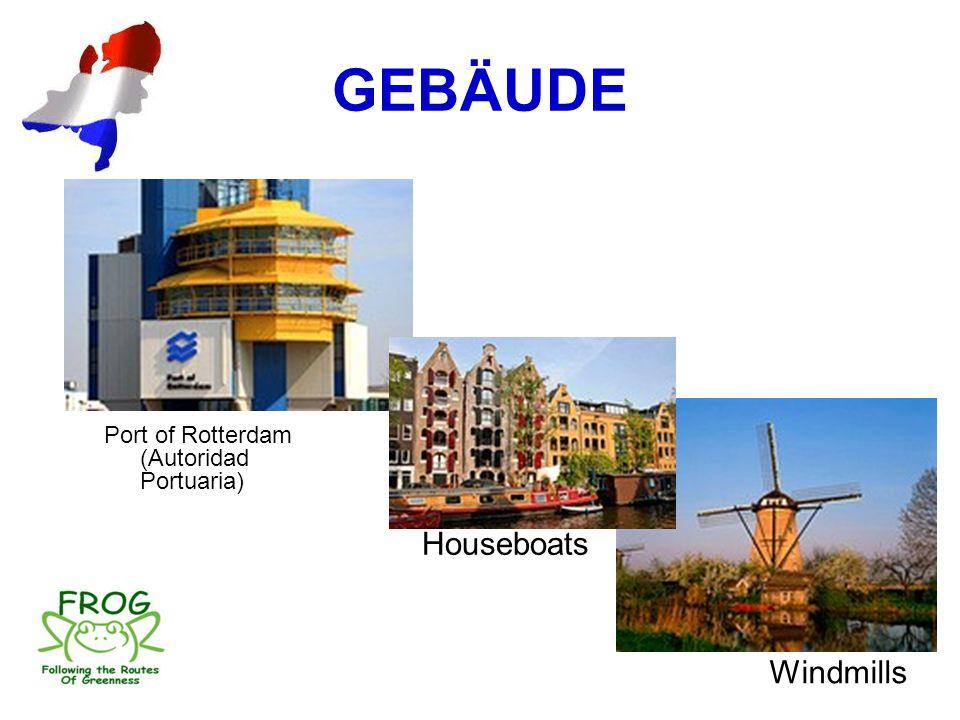 GEBÄUDE Port of Rotterdam (Autoridad Portuaria) Houseboats Windmills