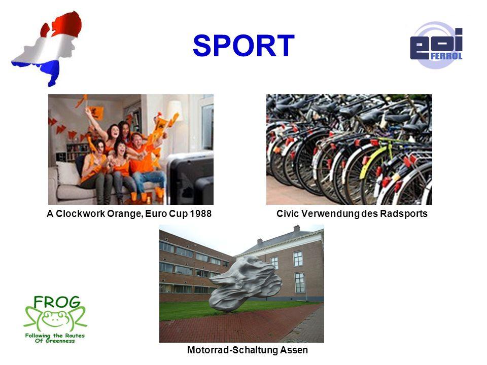 SPORT A Clockwork Orange, Euro Cup 1988 Civic Verwendung des Radsports Motorrad-Schaltung Assen