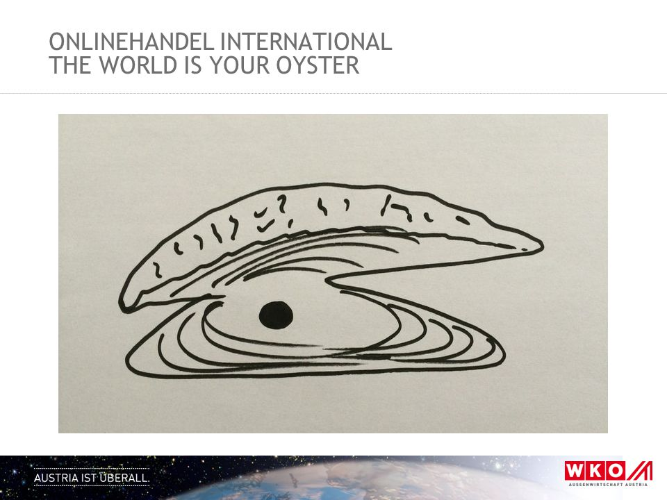 ONLINEHANDEL INTERNATIONAL THE WORLD IS YOUR OYSTER