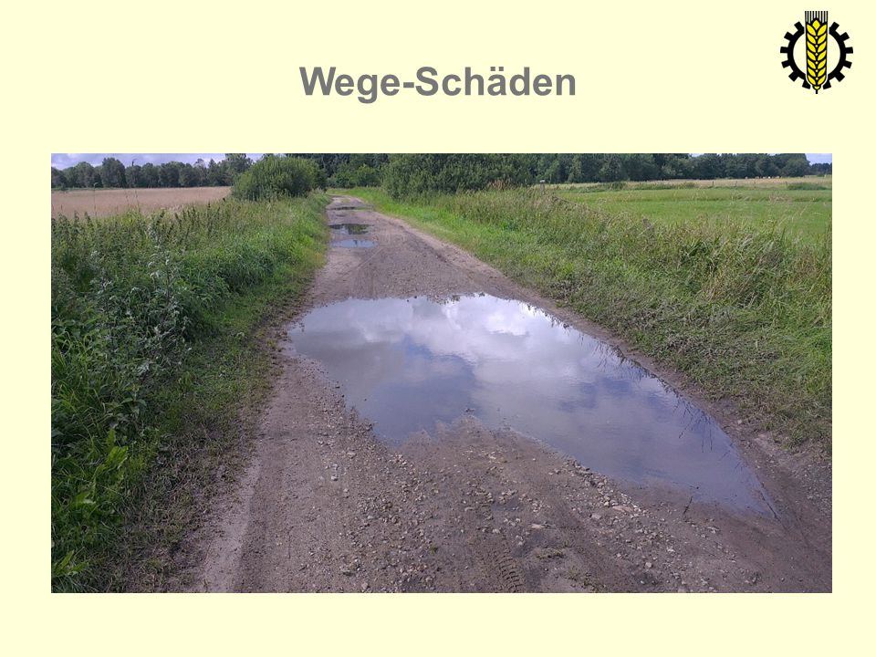 Wege-Schäden