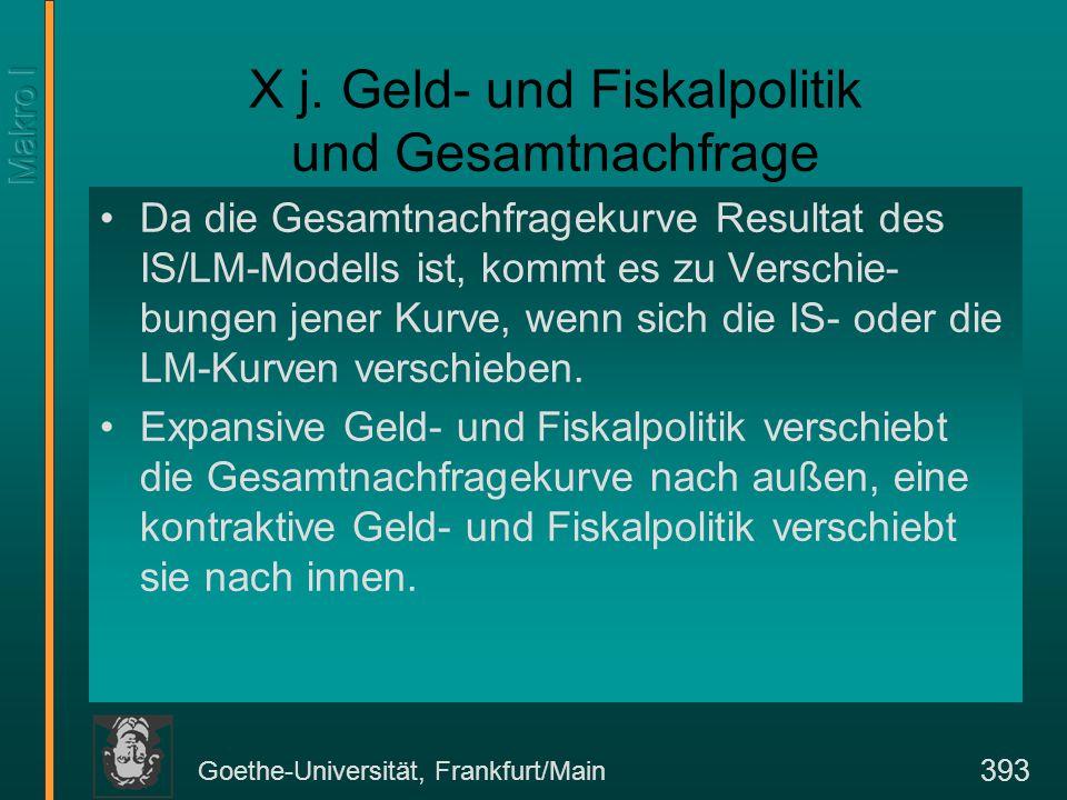Goethe-Universität, Frankfurt/Main 393 X j.