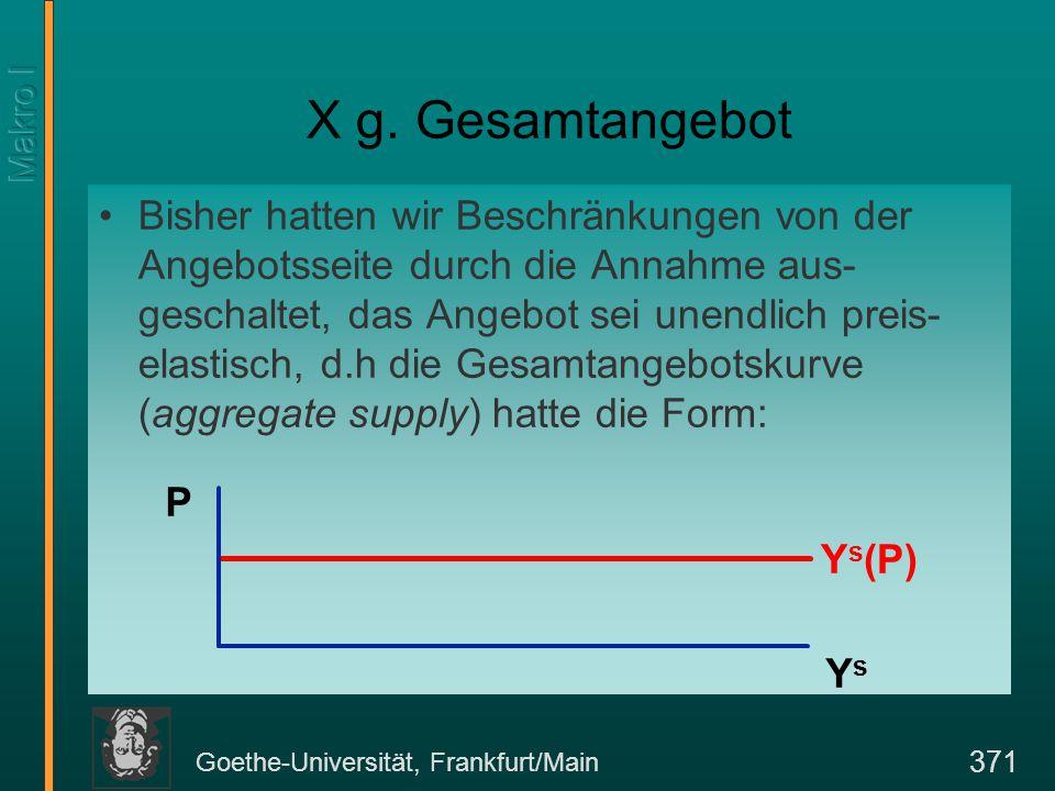 Goethe-Universität, Frankfurt/Main 371 X g.