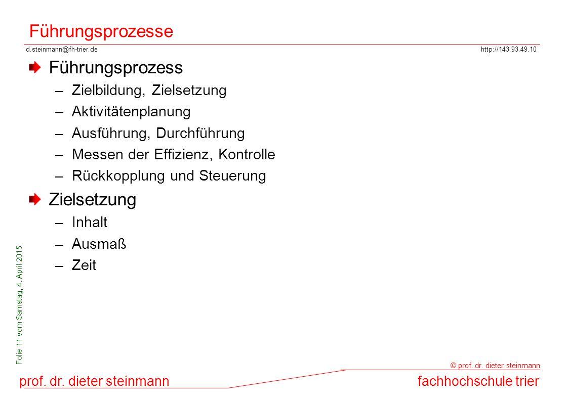 d.steinmann@fh-trier.dehttp://143.93.49.10 prof. dr. dieter steinmannfachhochschule trier © prof. dr. dieter steinmann Folie 11 vom Samstag, 4. April