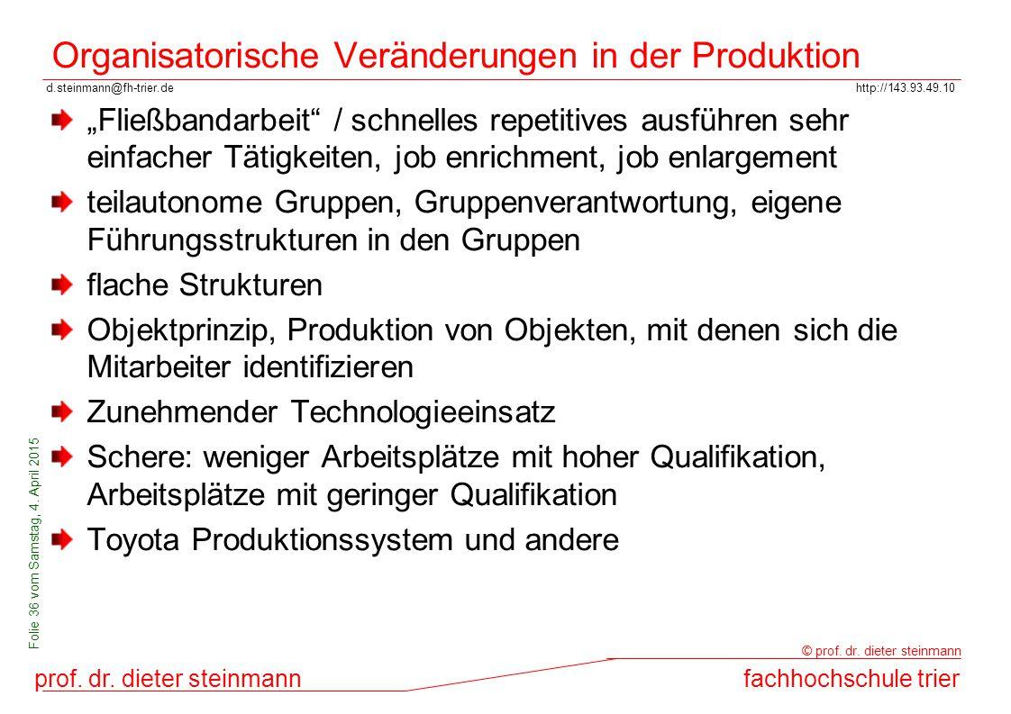 d.steinmann@fh-trier.dehttp://143.93.49.10 prof. dr. dieter steinmannfachhochschule trier © prof. dr. dieter steinmann Folie 36 vom Samstag, 4. April
