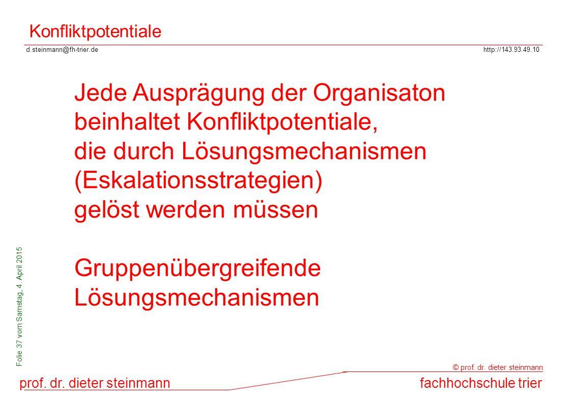 d.steinmann@fh-trier.dehttp://143.93.49.10 prof. dr. dieter steinmannfachhochschule trier © prof. dr. dieter steinmann Folie 37 vom Samstag, 4. April