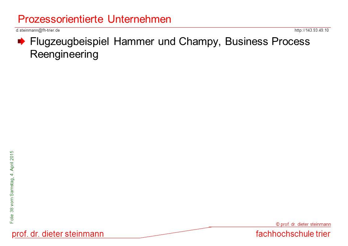 d.steinmann@fh-trier.dehttp://143.93.49.10 prof. dr. dieter steinmannfachhochschule trier © prof. dr. dieter steinmann Folie 38 vom Samstag, 4. April