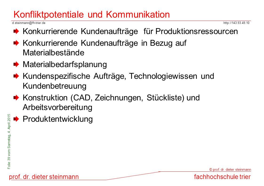 d.steinmann@fh-trier.dehttp://143.93.49.10 prof. dr. dieter steinmannfachhochschule trier © prof. dr. dieter steinmann Folie 39 vom Samstag, 4. April