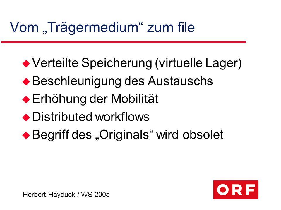 Herbert Hayduck / WS 2005