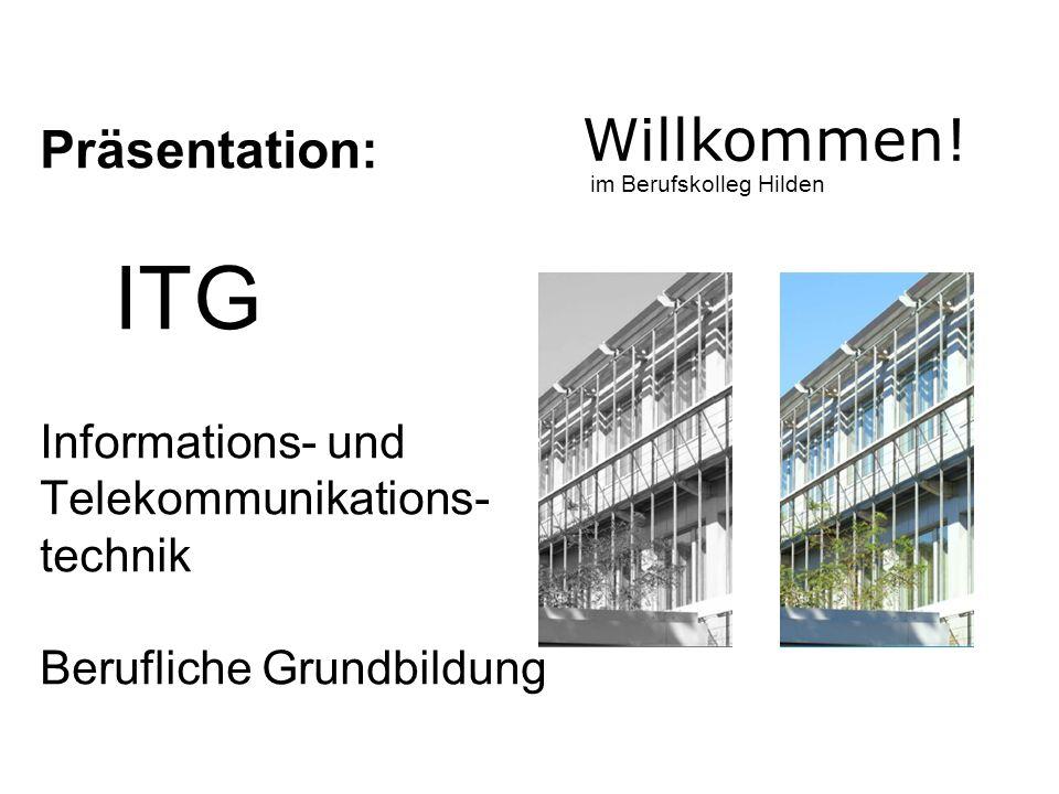 Berufliche Grundbildung 1 Jahr Vollzeit Schule Gleichgewichtung von Hardware und Software 4 Wöchiges Betriebspraktikum Was ist ITG.