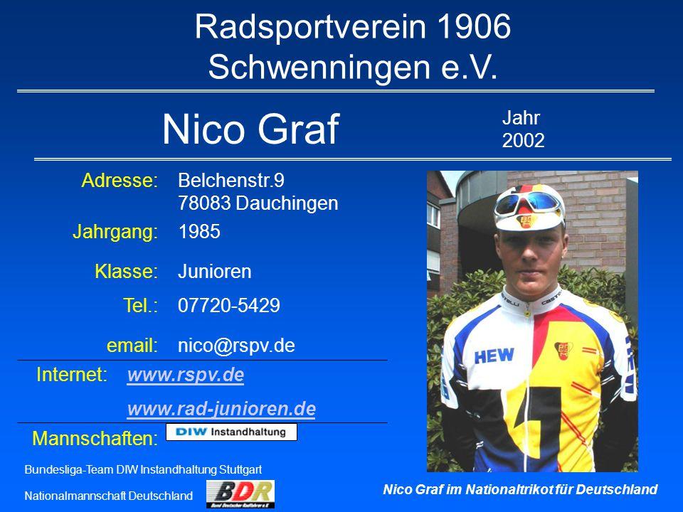 Nico Graf Radsportverein 1906 Schwenningen e.V.