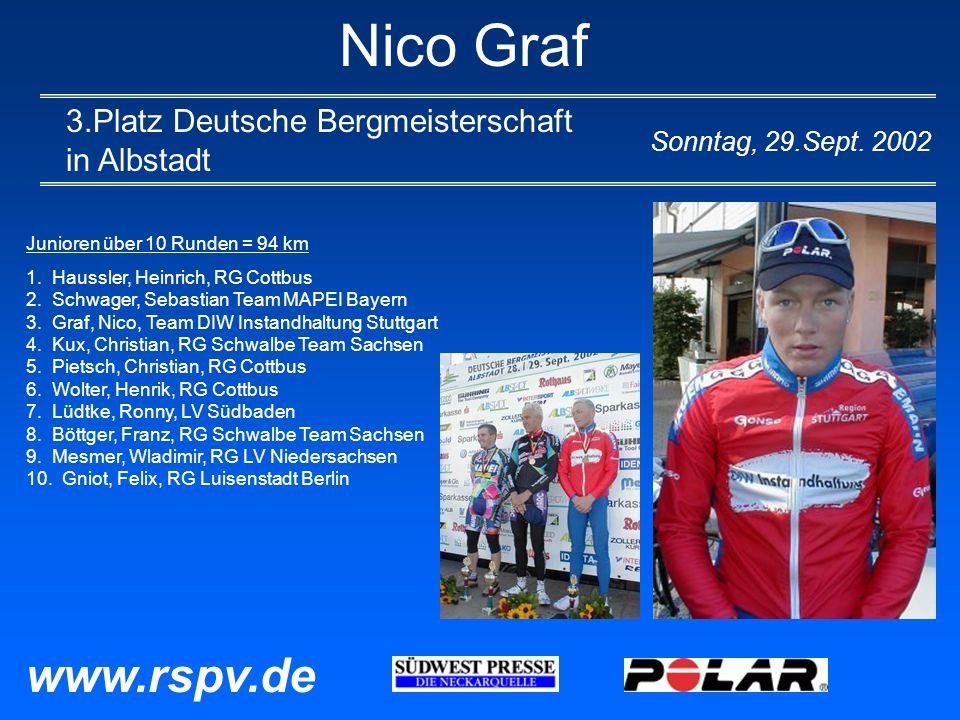 Nico Graf 3.Platz Deutsche Bergmeisterschaft in Albstadt Sonntag, 29.Sept.