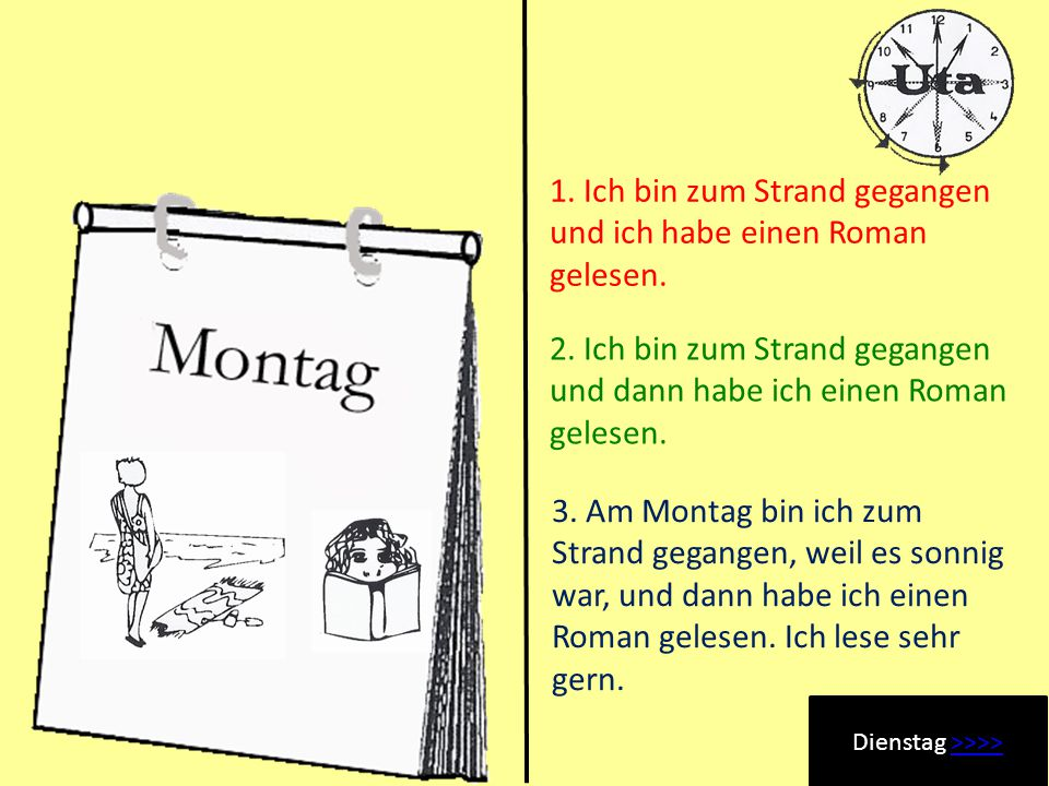 Utas Urlaub Montag >>>>