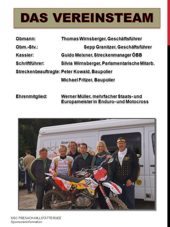 MSC FRESACH-MILLSTÄTTERSEE Sponsoreninformation