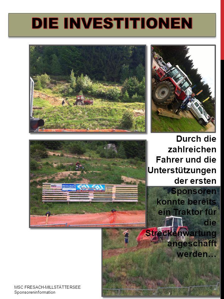 Durch die zahlreichen Fahrer und die Unterstützungen der ersten Sponsoren konnte bereits ein Traktor für die Streckenwartung angeschafft werden…