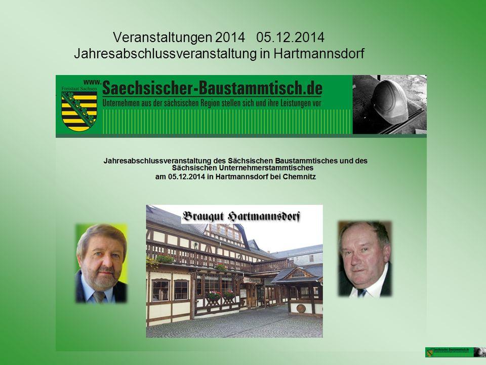 Veranstaltungen 2014 05.12.2014 Jahresabschlussveranstaltung in Hartmannsdorf
