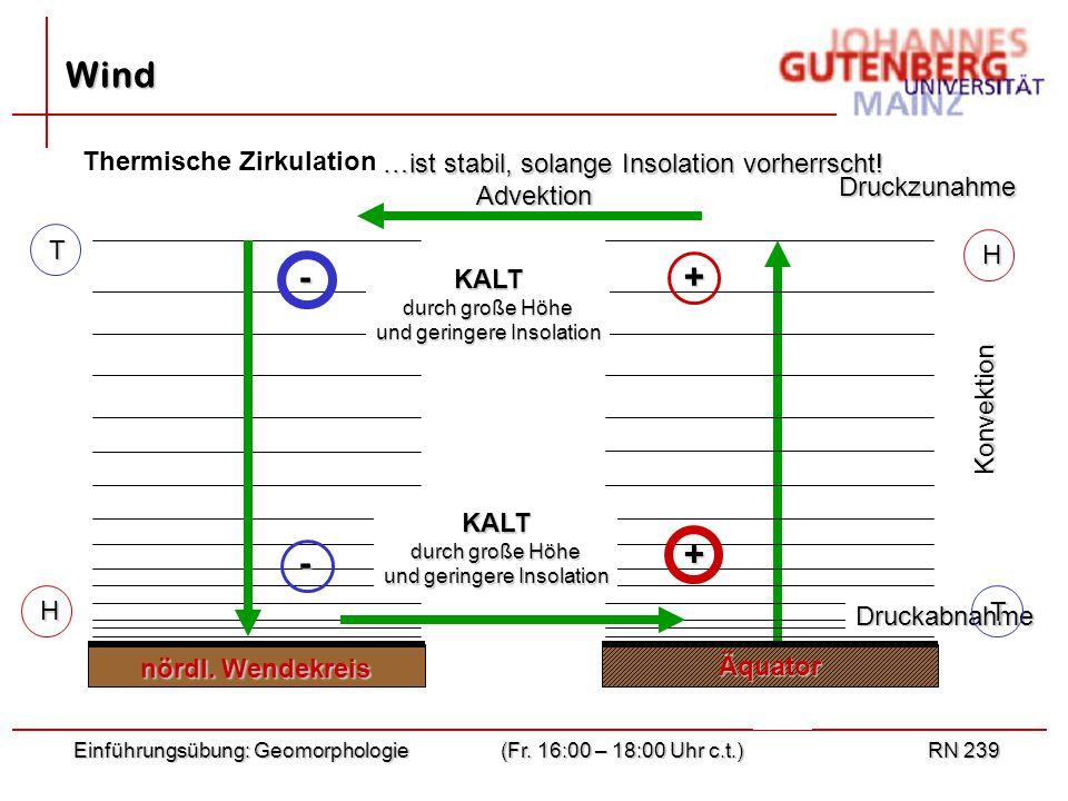 T Einführungsübung: Geomorphologie(Fr.