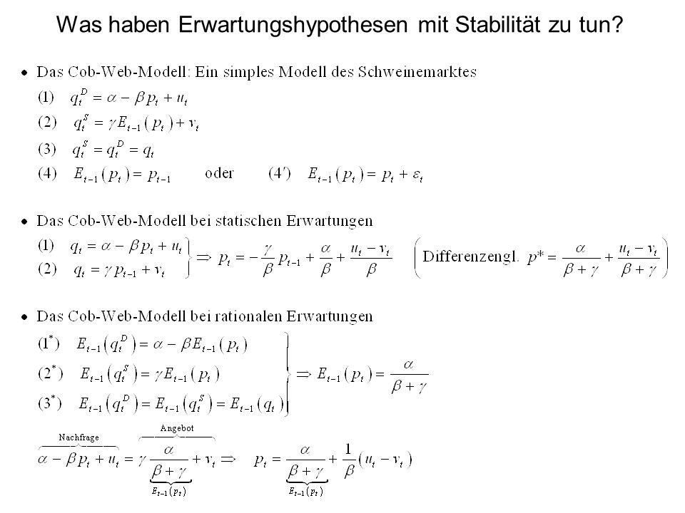 Was haben Erwartungshypothesen mit Stabilität zu tun?