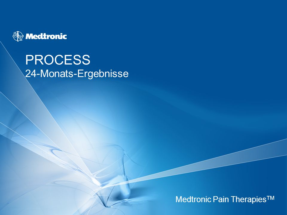 PROCESS 24-Monats-Ergebnisse Medtronic Pain Therapies TM
