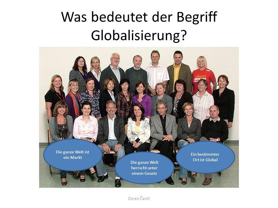 Was bedeutet der Begriff Globalisierung.