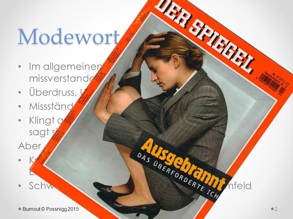 """Wissenschaftlich ungeklärt, ob Burnout… … eine Krankheit für sich ( Autonomie postulat ) oder eine """"normale Reaktion auf Belastungen … Teil bzw."""