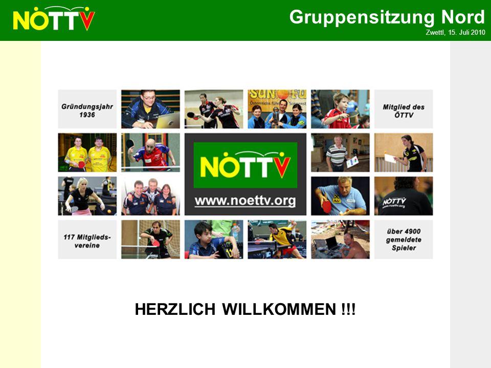Gruppensitzung Nord Zwettl, 15. Juli 2010 HERZLICH WILLKOMMEN !!!