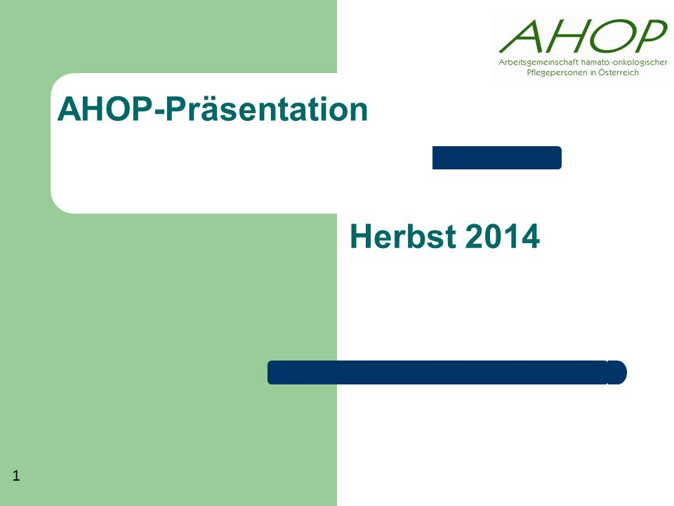 AHOP-Präsentation Herbst 2014 1