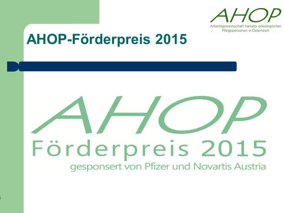 AHOP-Förderpreis 2015 13