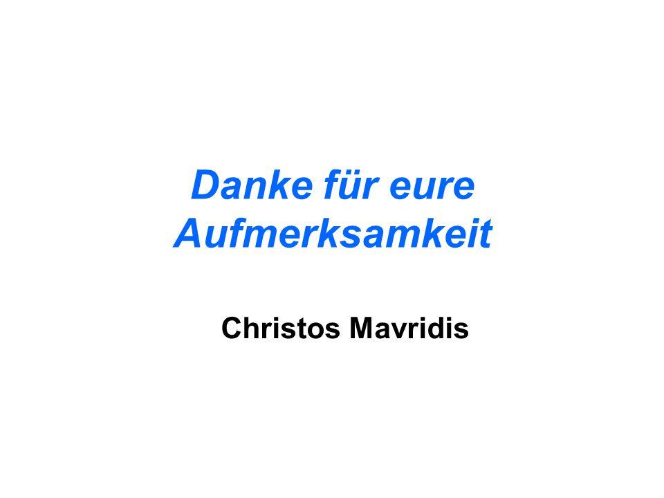 Danke für eure Aufmerksamkeit Christos Mavridis