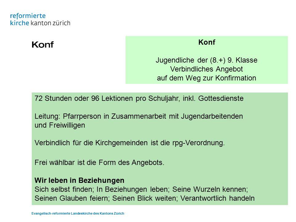 Konf Jugendliche der (8.+) 9.