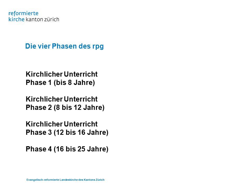 Evangelisch-reformierte Landeskirche des Kantons Zürich Kirchlicher Unterricht Phase 1 (bis 8 Jahre)