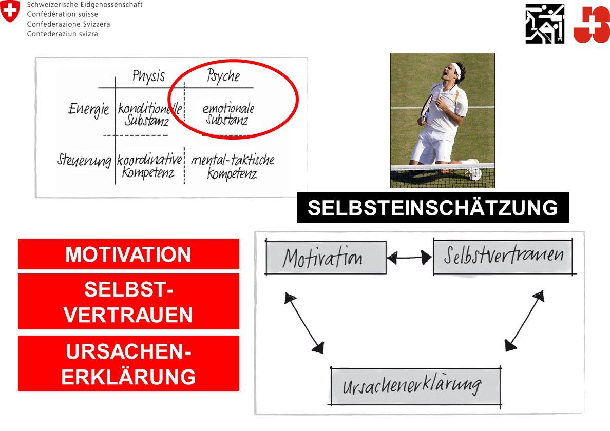 MOTIVATION SELBST- VERTRAUEN URSACHEN- ERKLÄRUNG SELBSTEINSCHÄTZUNG