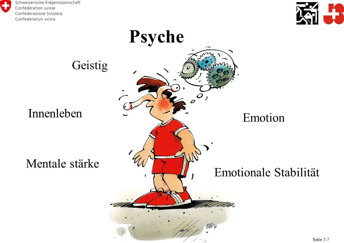 Psyche Innenleben Emotion Geistig Emotionale Stabilität Mentale stärke Seite 5-7