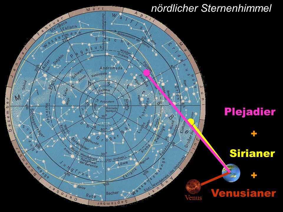 nördlicher SternenhimmelSirianer + Plejadier + Venusianer Venus