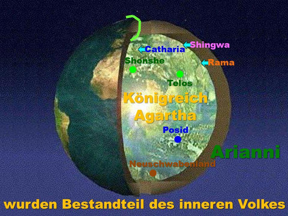 Telos Posid Shonshe Catharia Rama Shingwa Neuschwabenland KönigreichAgartha Arianni wurden Bestandteil des inneren Volkes