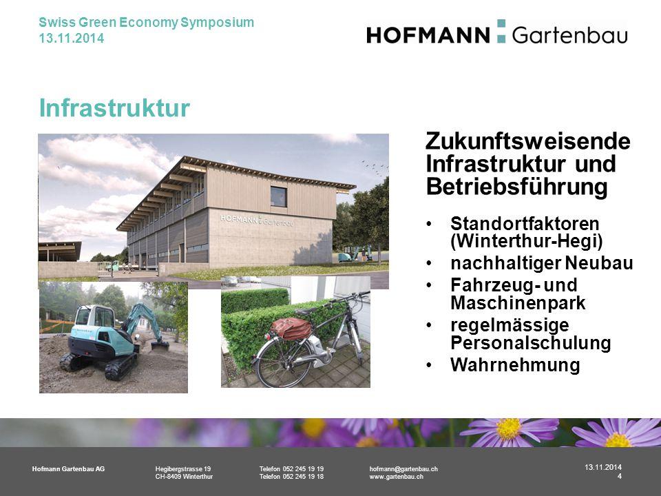 Hofmann Gartenbau AGHegibergstrasse 19Telefon 052 245 19 19hofmann@gartenbau.ch CH-8409 WinterthurTelefon 052 245 19 18www.gartenbau.ch Infrastruktur