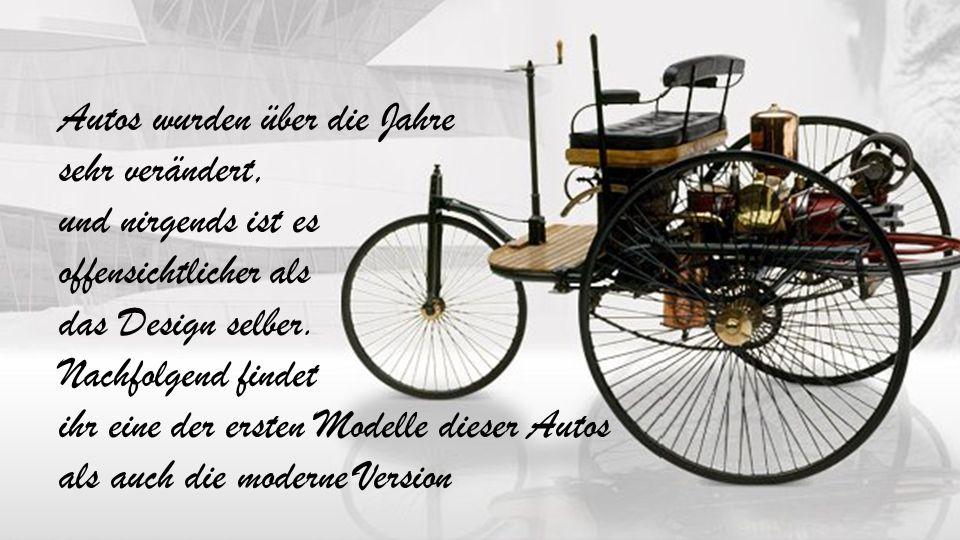 Autos wurden über die Jahre sehr verändert, und nirgends ist es offensichtlicher als das Design selber.