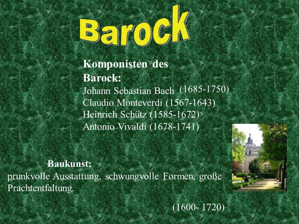 Ich, Johann Sebastian Bach, wurde 1685 in Eisenach geboren. Ich stamme von einer deutschen Musikerfamilie ab. Mit 38 Jahren wurde ich Kantor der Thoma
