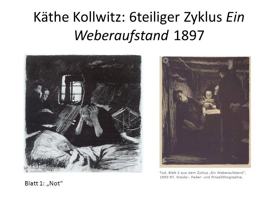 "Käthe Kollwitz: 6teiliger Zyklus Ein Weberaufstand 1897 Blatt 1: ""Not"""