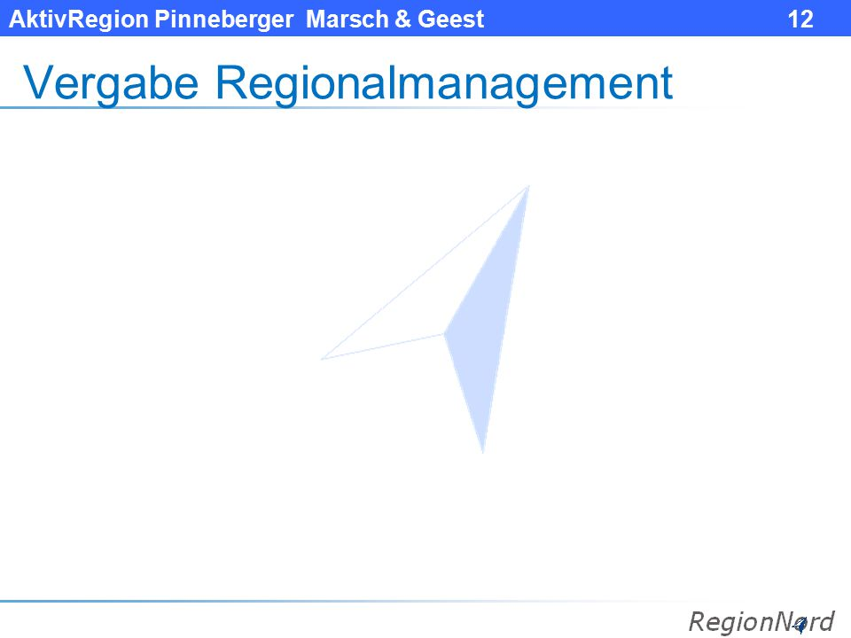 AktivRegion Pinneberger Marsch & Geest 12 Vergabe Regionalmanagement