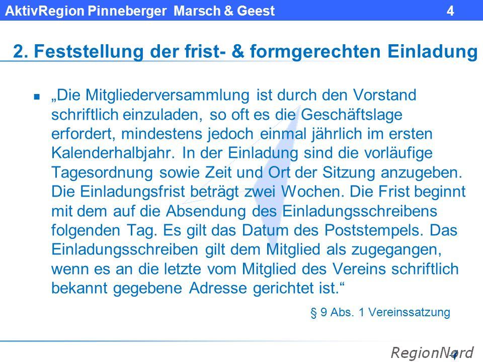 AktivRegion Pinneberger Marsch & Geest 5 3.
