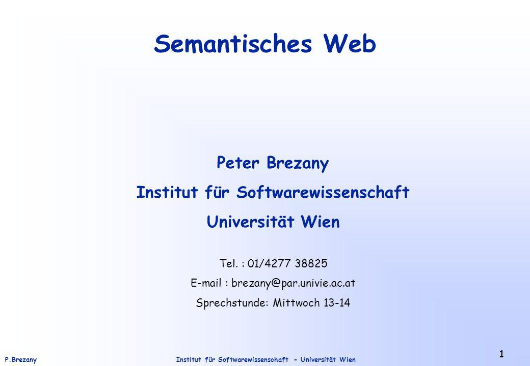 Institut für Softwarewissenschaft - Universität WienP.Brezany 42 Triples of the Data Model SubjectPredicateObject http://somewhere/JohnSmithhttp://www.w3.org/2001/vcard-rdf/3.0#FNJohn Smith genid:001http://www.w3.org/2001/vcard-rdf/3.0#FamilySmith genid:001http://www.w3.org/2001/vcard-rdf/3.0#GivenJohn http://somewhere/JohnSmithhttp://www.w3.org/2001/vcard-rfd/3.0#Ngenid:001