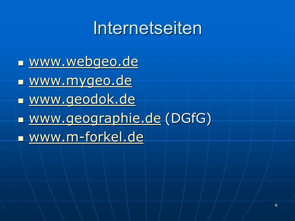 6 Internetseiten www.webgeo.de www.webgeo.de www.webgeo.de www.mygeo.de www.mygeo.de www.mygeo.de www.geodok.de www.geodok.de www.geodok.de www.geogra