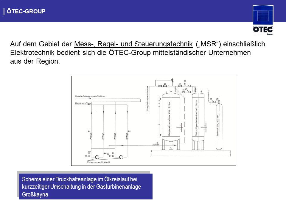 """  ÖTEC-GROUP Auf dem Gebiet der Mess-, Regel- und Steuerungstechnik (""""MSR"""") einschließlich Elektrotechnik bedient sich die ÖTEC-Group mittelständische"""