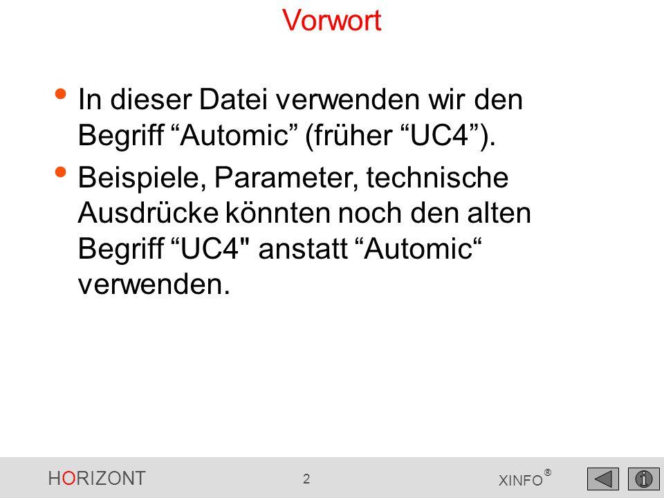 "HORIZONT 33 XINFO ® Automic – JOB Netzplan, Pred/Succ-Level ""Rechte Maus , Pred/Succ Netzplan"